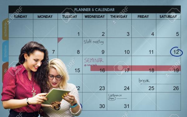 Academic Excel Calendar Template