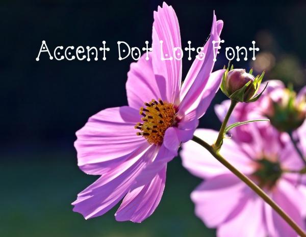 Accent Dot Lots Font