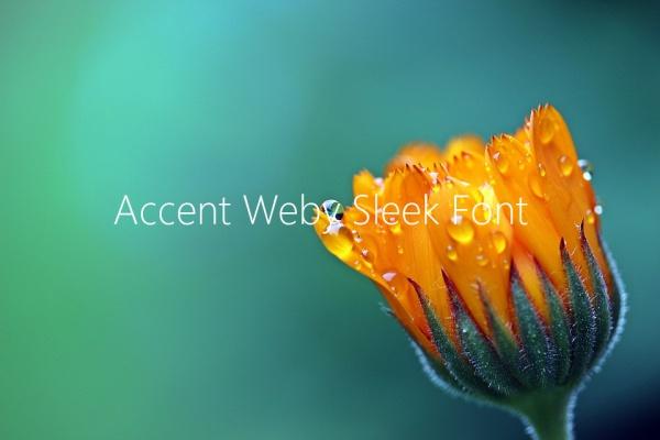 Accent Weby Sleek Font