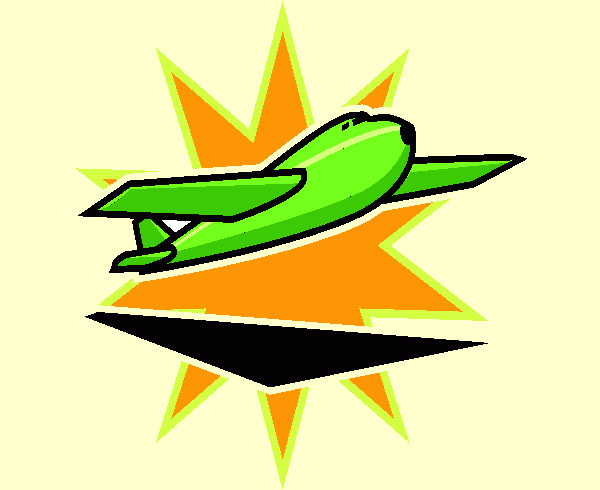 Aeroplane in Star Clipart