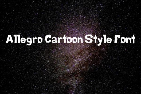 Allegro Cartoon Style Font