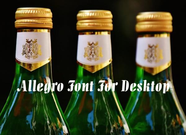 Allegro Font For Desktop
