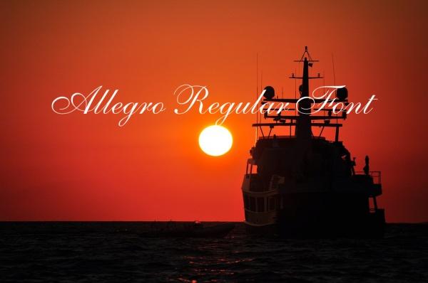 Allegro Regular Font
