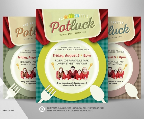 Amazing Potluck Event Invitation