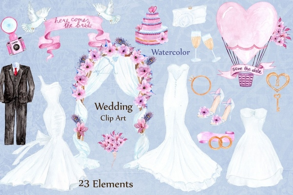 Amazing Wedding Dresses Clipart