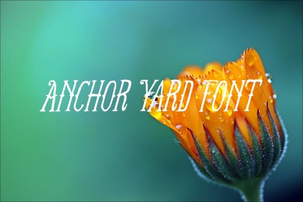 Anchor Yard Font