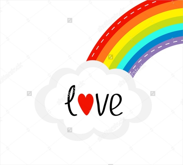 Animated Rainbow Love Clipart