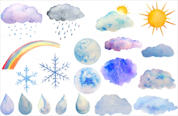 Animated Watercolor Sun Clipart