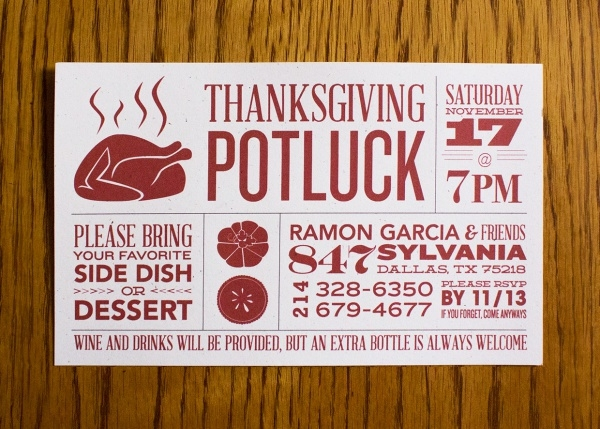 Annual Potluck Friendsgiving Invitation