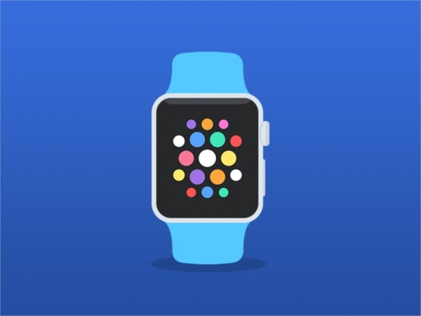 Apple watch flat mockup