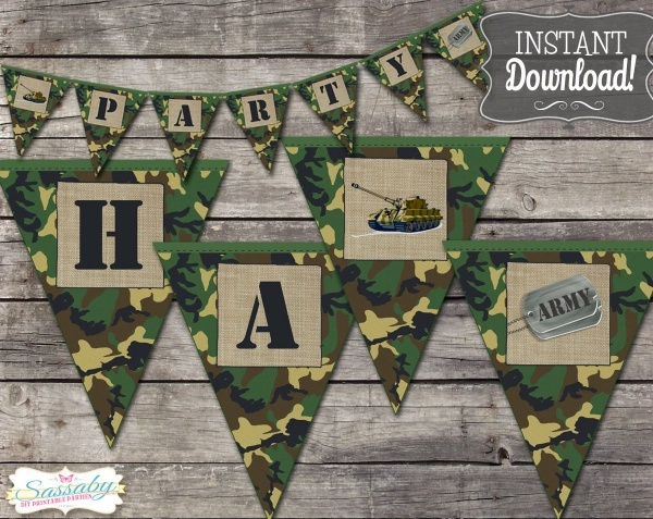 Army Party Banner Design