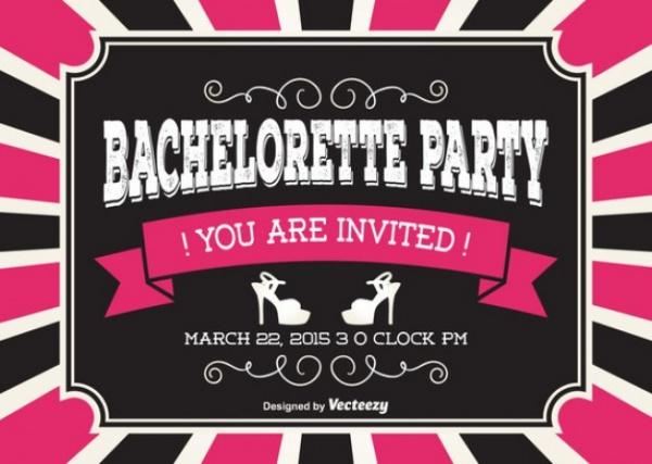 Bachelorette Party Farewell Invitation