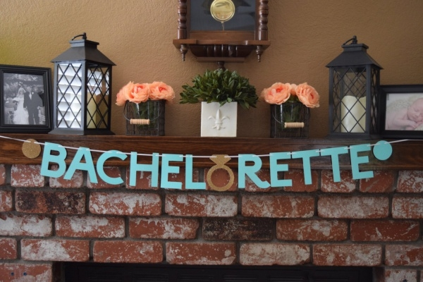 Bachelorette Party Glitter Banner