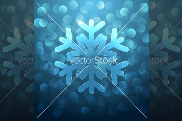 Back Glass snowflake vector Design