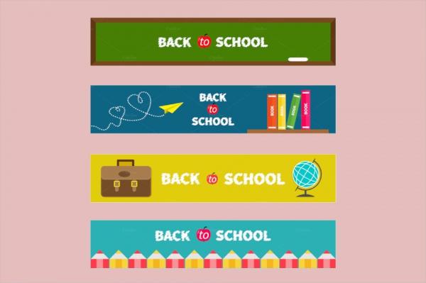 Back to School Editable Banner