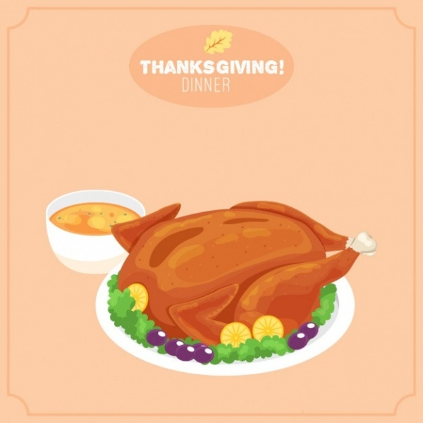 Background of Tasty Thanksgiving Clip-art