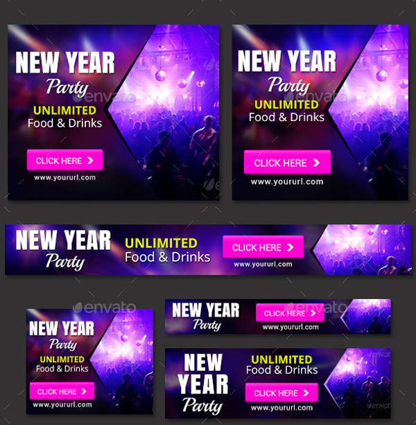 Banner of New Year Party