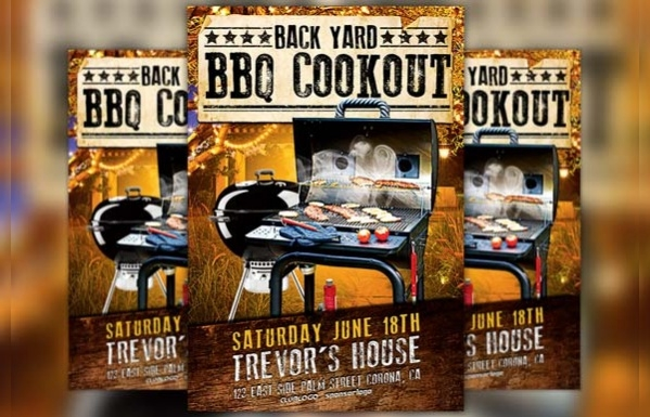 Barbeque Backyard Cookout Flyer
