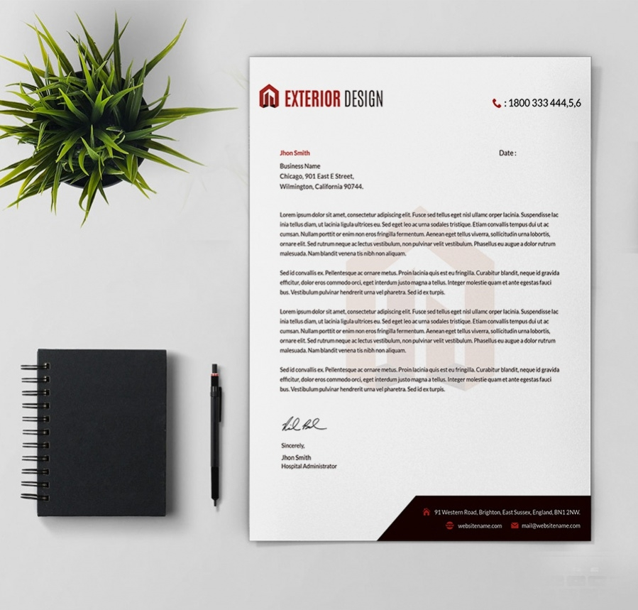 25  free letterheads  education  architecture  hospital