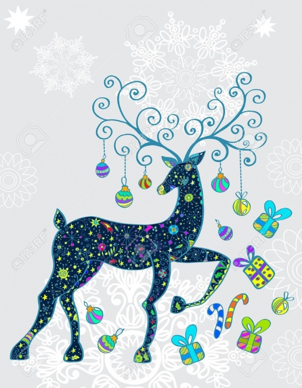 Beautiful Reindeer Graphic Clip-art