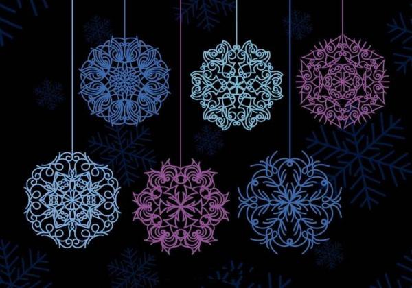 Beautiful Set of Winter Snowflakes