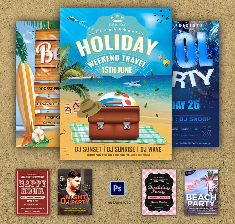 best free party flyer psd template