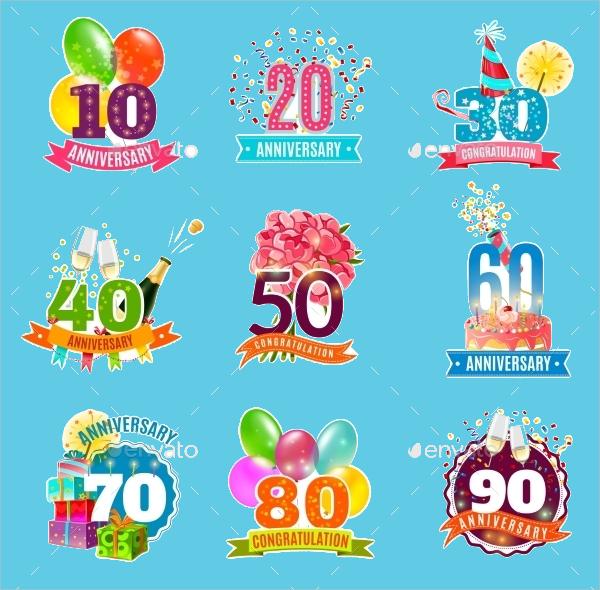 Birthday Anniversary Icons