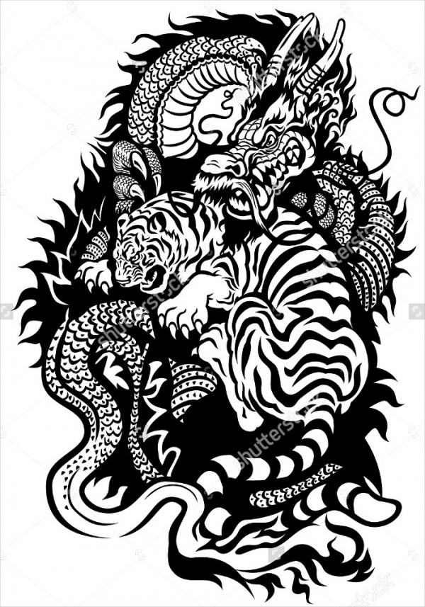 black white tattoo illustration1