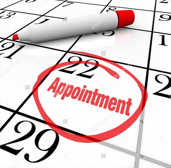 Blank Appointment Calendar