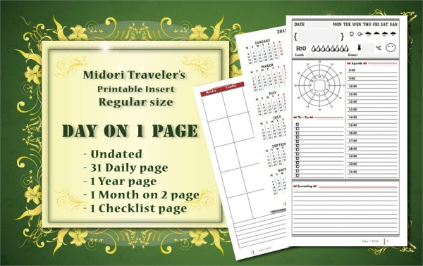 Blank Daily Calendar Template