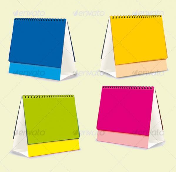 Blank Desk Calendar Design