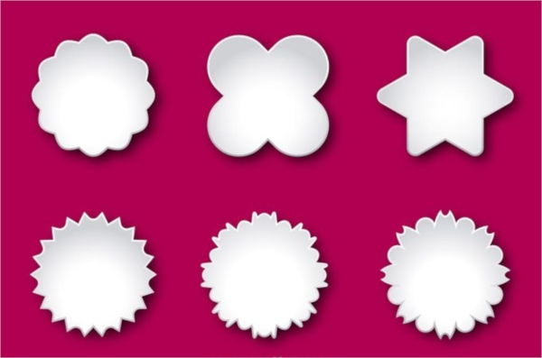 Blank Labels Vector Template
