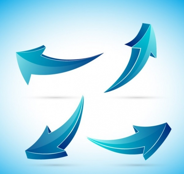 Blue Arrows Collection Vector