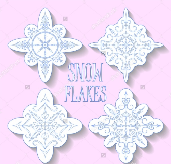 Blue snowflakes Vector clipart