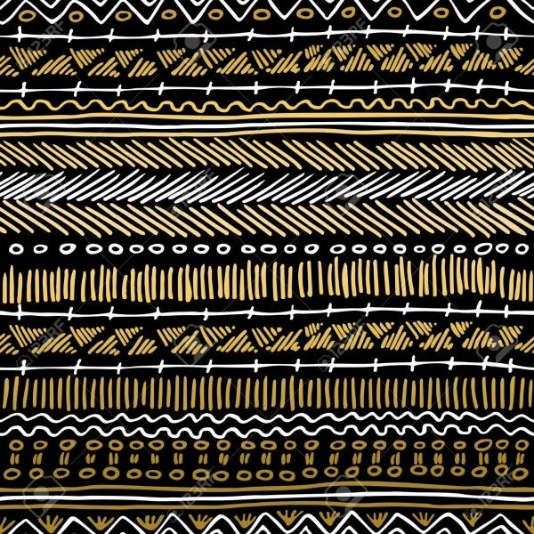 Bohemain Seamless Golden Pattern