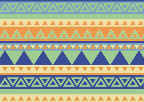 Bohemian style pattern vector graphics