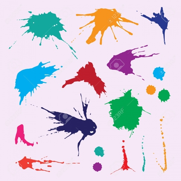 Bright Splatter Vector Illustration Vector