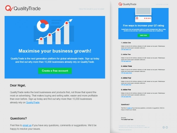 Business Growth Email Template
