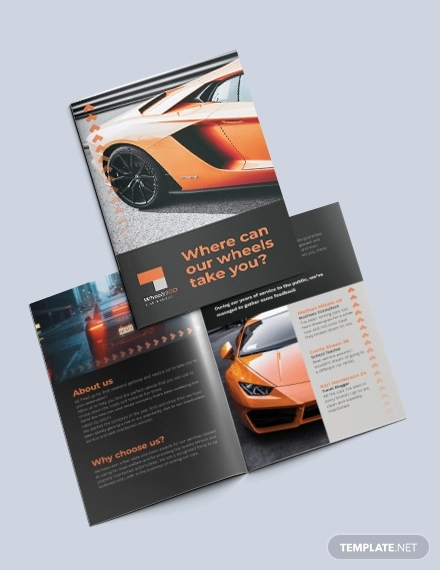 car rental bi fold brochure template2