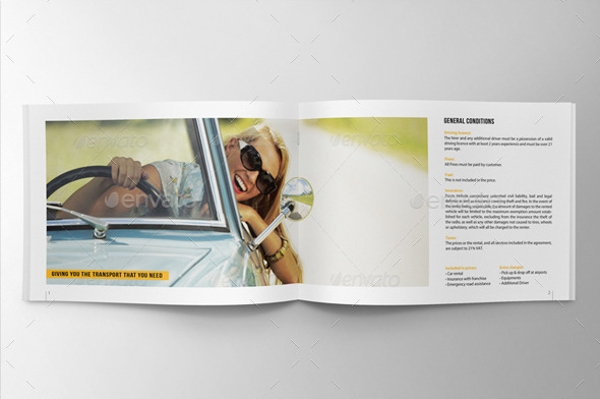 Car Sale Rental Brochure Design