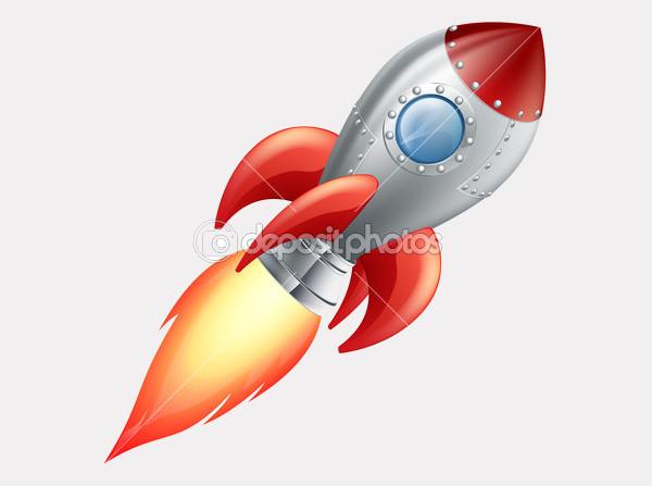Cartoon Rocket Space Ship Clipart
