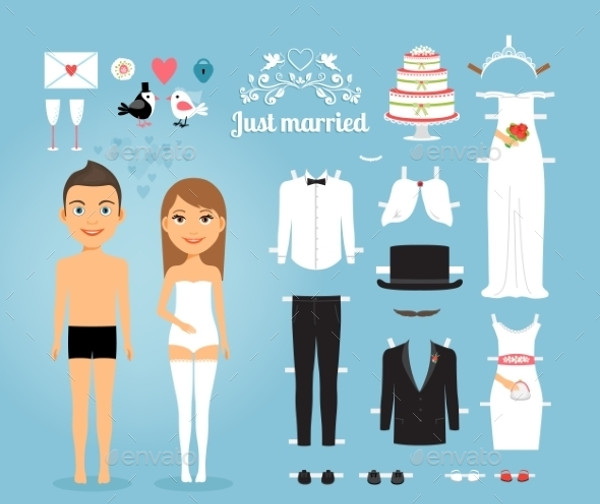 Cartoon Wedding Clip Art