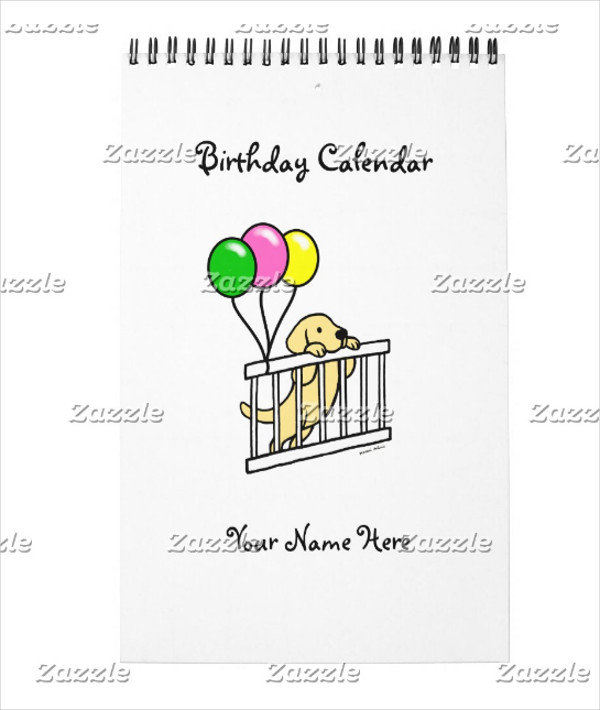 Cartoon calendar Design