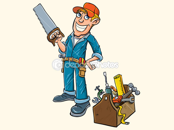 Cartoon handyman Tool Clip-art