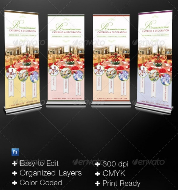 Catering Service Pop-Up Banner