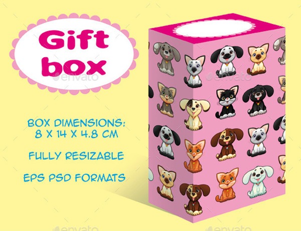 Children's Toy Gift Box Packaging Design