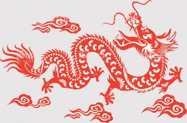 Chinese Dragon Astrology ClipArt