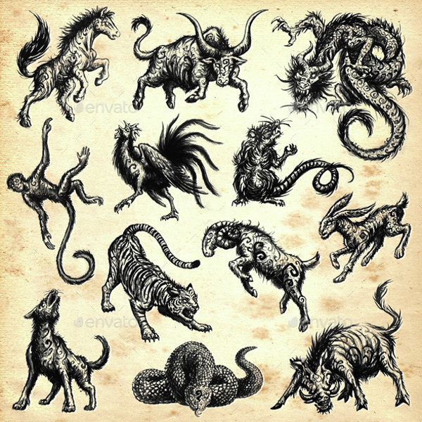 Chinese Dragons Brushes