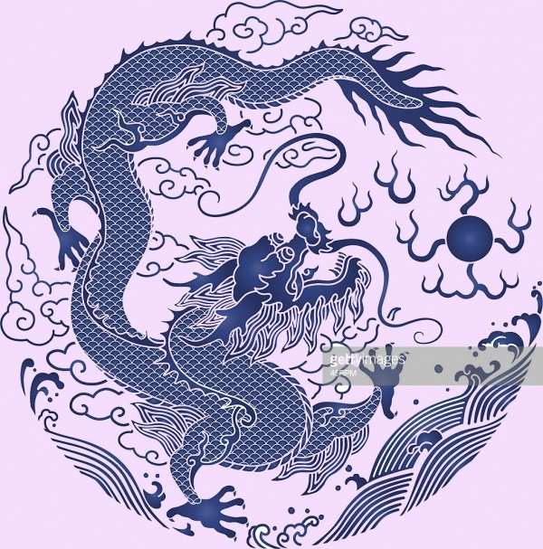 Chinese Ethinicity Dragon Tatoo Clipart