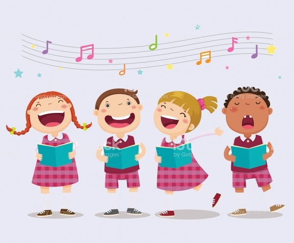 Choir girls and boys Music Clipart